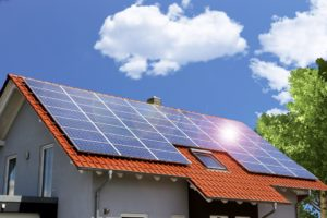 house being powered by solar panels