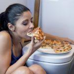 Woman bing eating