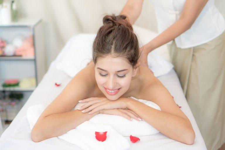 pampering at a salon