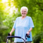 senior lady using a rollator