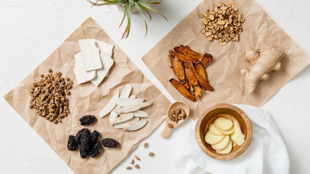 Ingredients for herbal soap