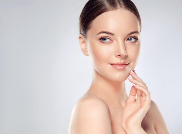 Woman with beautiful fair skin