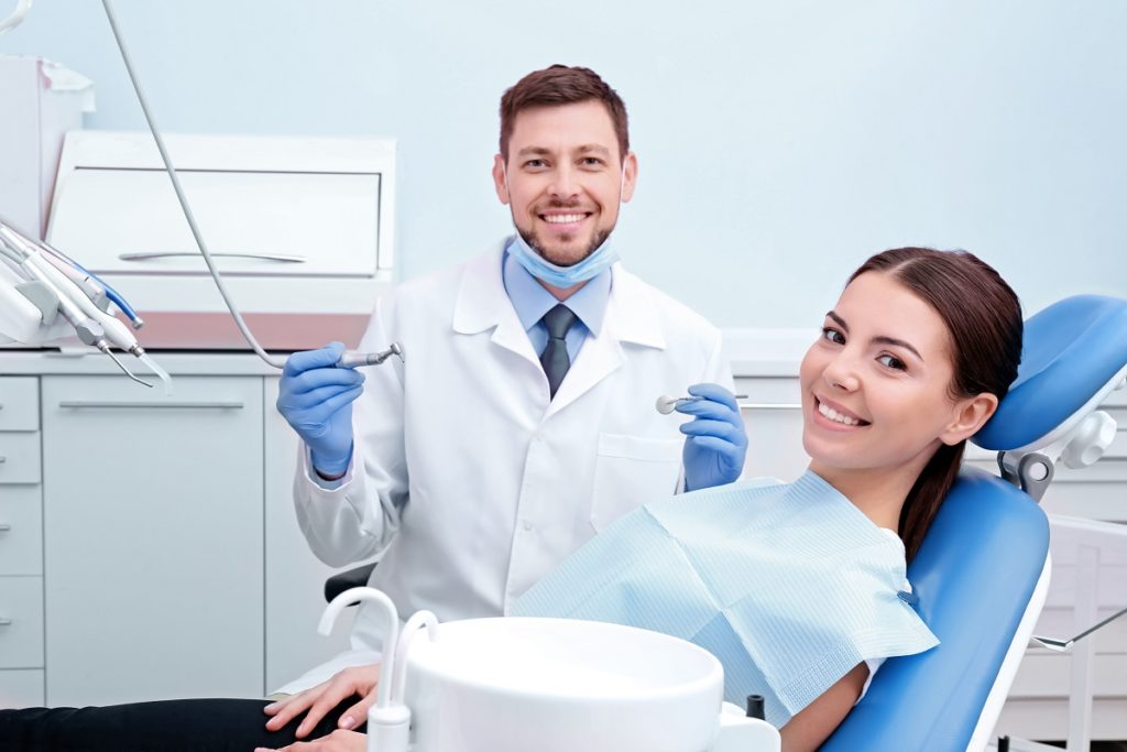 dentist and patient in the clinic