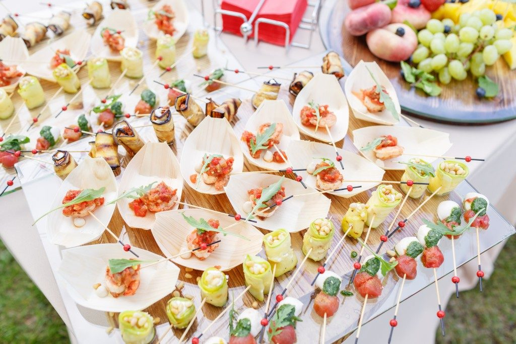 canapes as appetizer