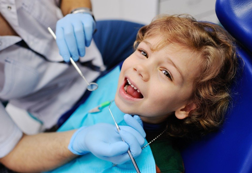 Happy in the dental clinic