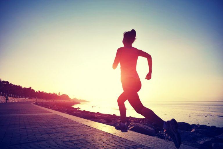 woman running early in the morning