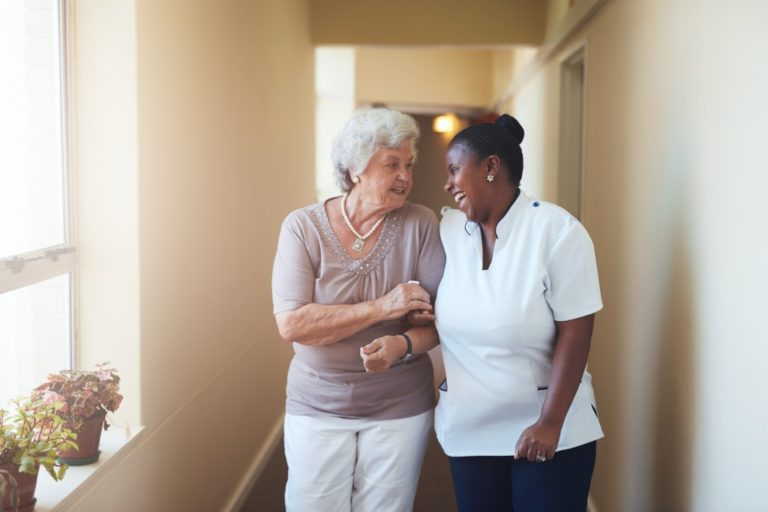 Woman in an Assisted Living Facility