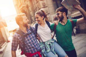 Tourist friends