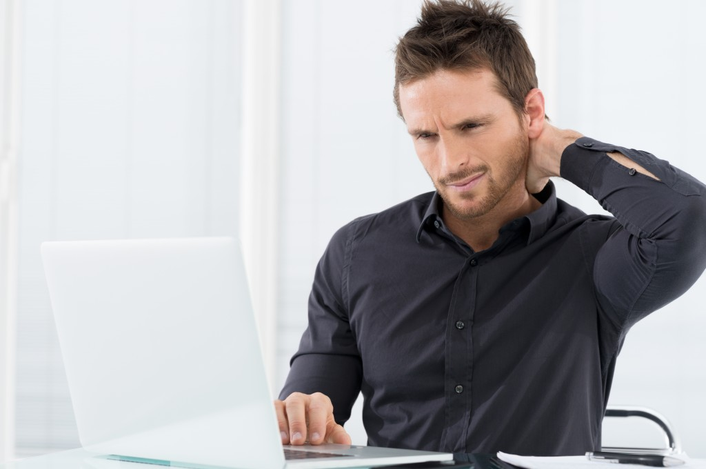 Employee stressed at work