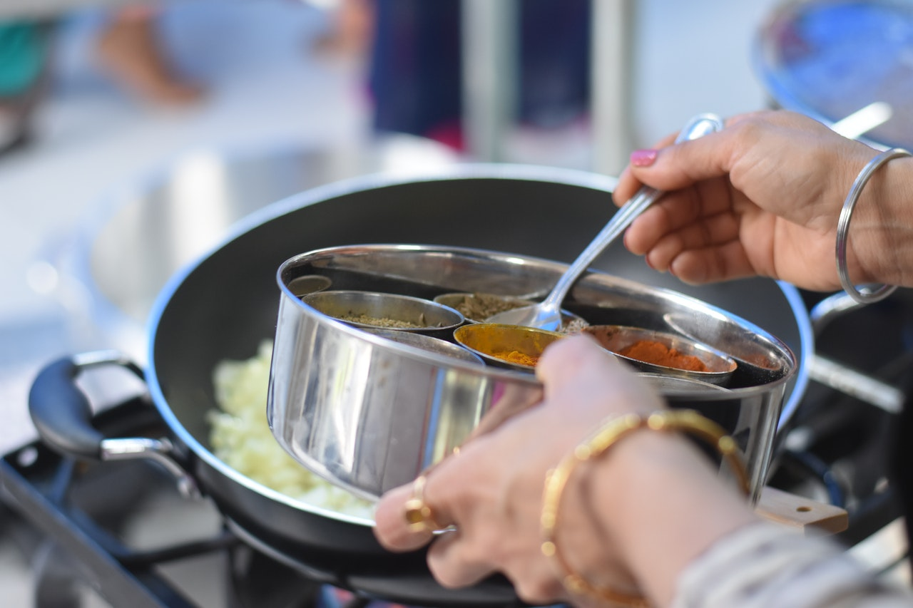 preparing dish